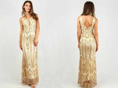 glitter-embellished-maxi-dress-with-mesh-insert-in-gold
